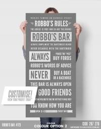 # 723 prints for bar pub custom-tram-banner-bus-scroll-shown-in-colour-option-2