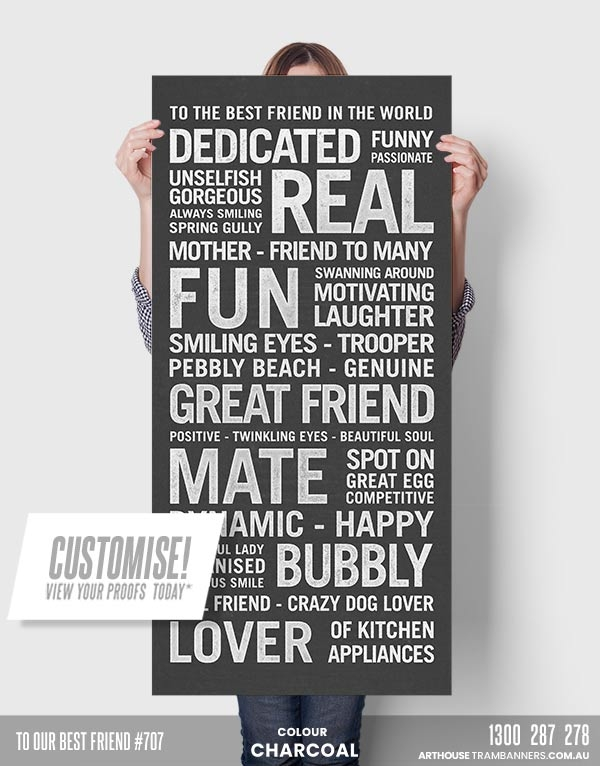 to our best friend #707 custom-tram-banner-scroll-bus-roll-product-image